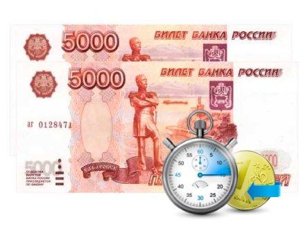 Срочный займ от 10000 рублей на карту